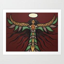 Thunderbird Woman Art Print
