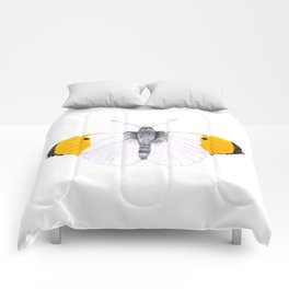 Yellow Tipped Butterfly Comforters