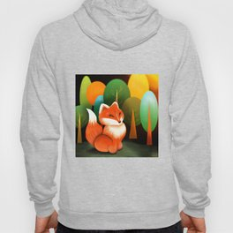 Brave Fox In The Forest Hoody