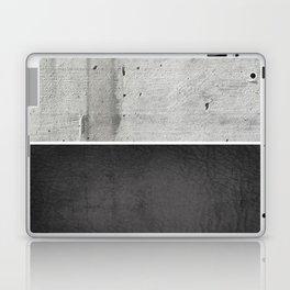 Raw Concrete and Black Leather Laptop & iPad Skin