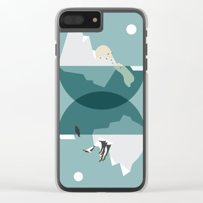 North and south Clear iPhone Case