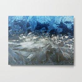 Icy Window Metal Print