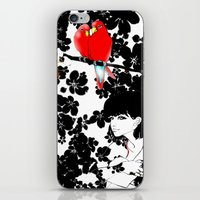 valentine iPhone & iPod Skins featuring Valentine by Priscilla Moore