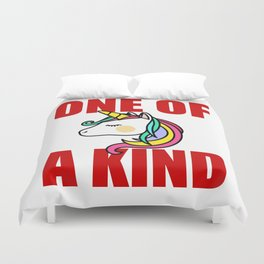 one of a kind unicorn Duvet Cover