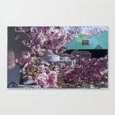 Salty Cherry Blooms Canvas Print