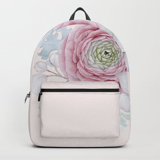 My mexican pastel pink succulent garden Backpack