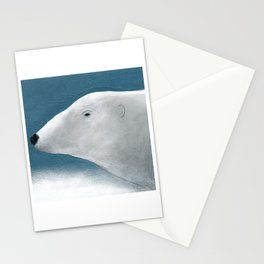 Blue Day Polar Bear Stationery Cards