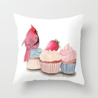 cupcakes Throw Pillows featuring Cupcakes by Cisternas