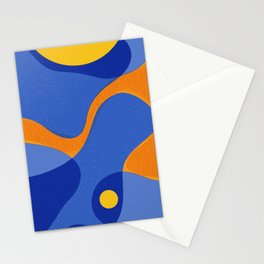 Orange Pop | Happy modern Art Stationery Cards