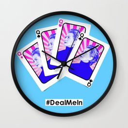 Deal.Me.In. Wall Clock