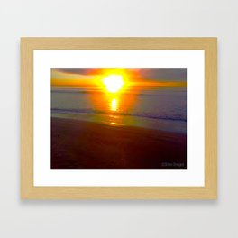 Fiery Dawn over Jervis Bay Framed Art Print