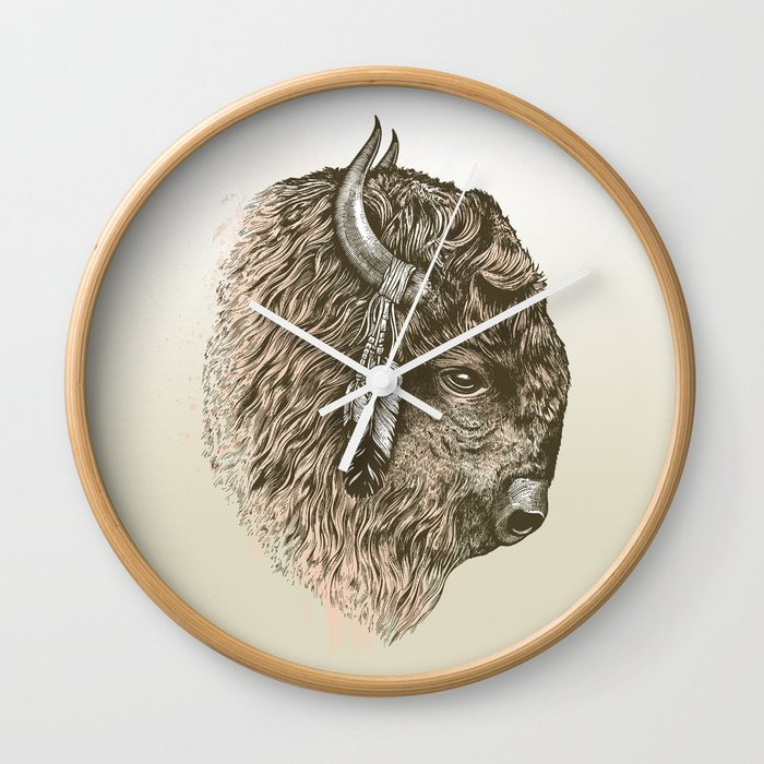 Buffalo Portrait Wall Clock