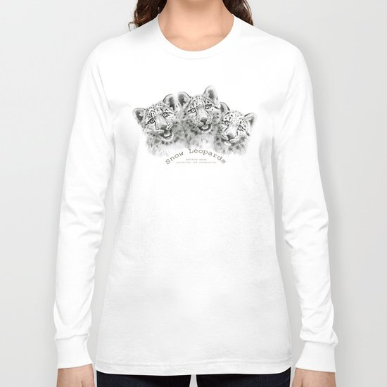 Snow Leopard cubs  SK056 Long Sleeve T-shirt