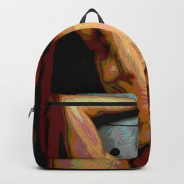 Male Oil Nude Backpack