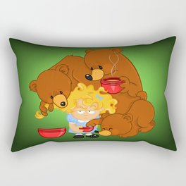 Goldilocks and the Three Bears Rectangular Pillow