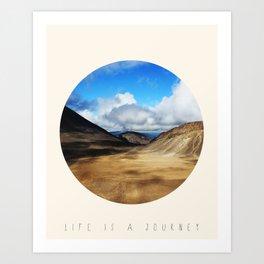 Life Is A Journey (Colour)  Art Print