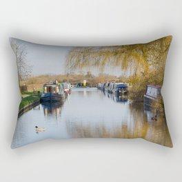 Canal at Alrewas Rectangular Pillow