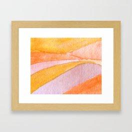 Gold Lands Framed Art Print