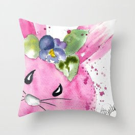 Easter Bunny Peek A Boo Throw Pillow
