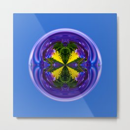 Dandy Four Abstract Globe Metal Print