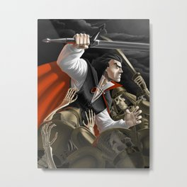 Vampire vs Skeletons Army Metal Print