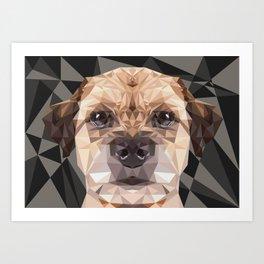 Low Poly Border Terrier Art Print