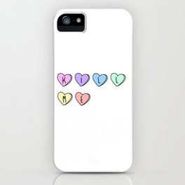 Kill Me Candy Hearts iPhone Case