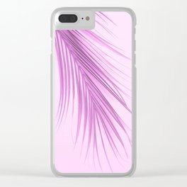 Pink Palm Leaf On A Pink Background #decor #society6 #buyart Clear iPhone Case