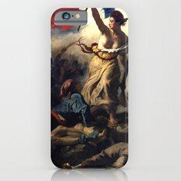"""Eugène Delacroix """"Le 28 Juillet. La Liberté guidant le peuple (Liberty Leading the People)"""" iPhone Case"""