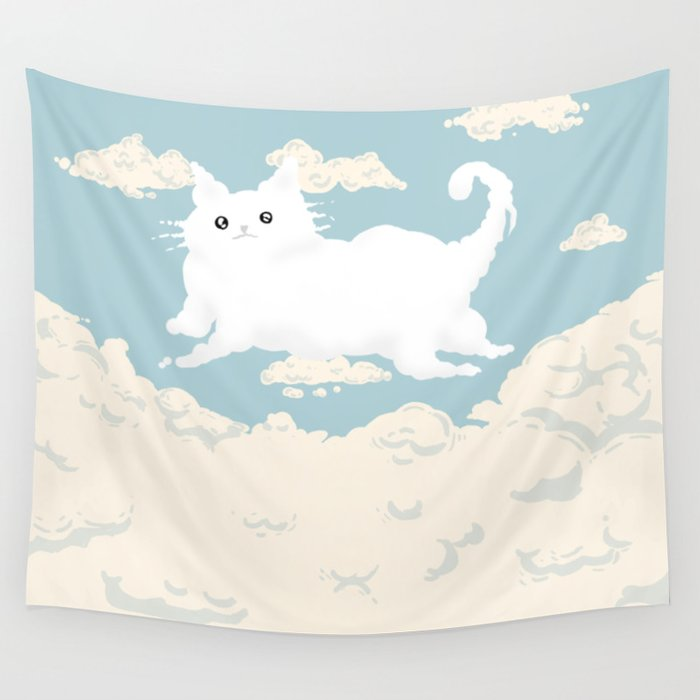 Cat Cloud Wall Tapestry
