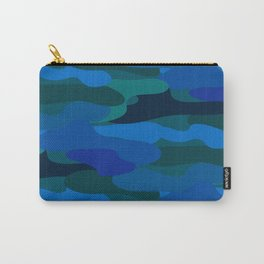 Camo-licious Collection: Blue Hawaiian Camouflage Pattern Carry-All Pouch