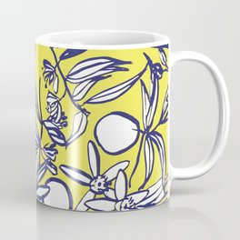 Orange Blossoms on Citron Coffee Mug