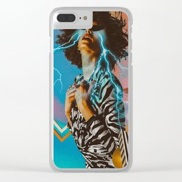 Retro vibes Clear iPhone Case