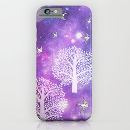 Space Trees iPhone Case