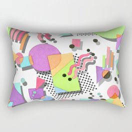 Rad 80s Memphis Rectangular Pillow