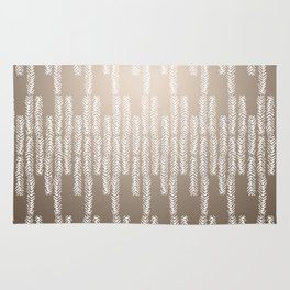 Eye of the Magpie tribal style pattern - champagne Rug