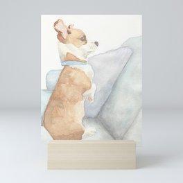 Comfortable Corgi Mini Art Print