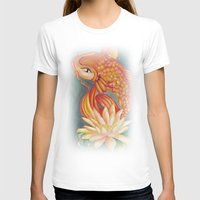 koi T-shirts featuring Koi by Halinka H