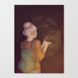 Shadows Lady Canvas Print