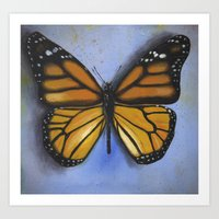 Monarch majesty. Art Print