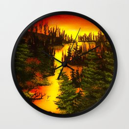 Clear water sunset  Wall Clock