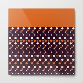Colorful polka dots on black and purple background Metal Print