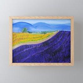 Lavender feilds Framed Mini Art Print