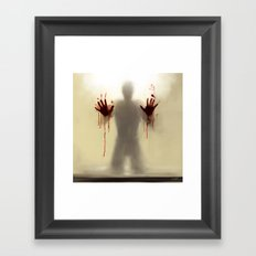 Beware to the shower....you are not alone! Framed Art Print