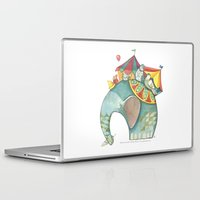 dumbo Laptop & iPad Skins featuring Dumbo  by One Golden Sun
