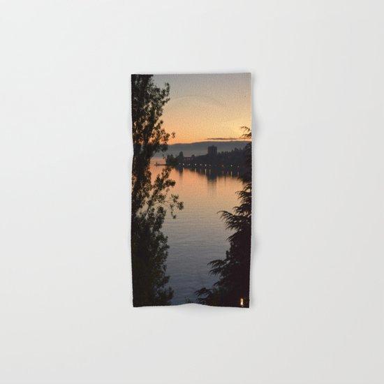 Sunset on the lake Hand & Bath Towel