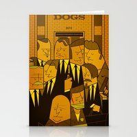 reservoir dogs Stationery Cards featuring Reservoir Dogs by Ale Giorgini