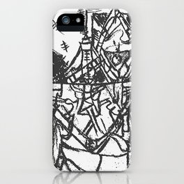 """""""RED DEAD!"""" Black & White Edition iPhone Case"""