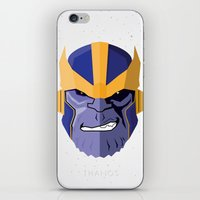 thanos iPhone & iPod Skins featuring Thanos by Micah Lanier