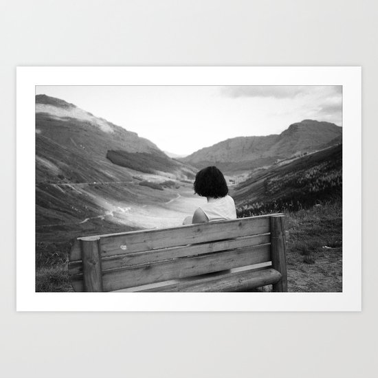 bench with a view Art Print